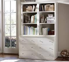 42 Wide Bookcase Logan Bookcase With Drawers Pottery Barn