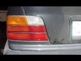 tail light with rear fog light bmw e36 youtube