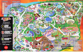 Vallejo Ca Six Flags Six Flags Discovery Kingdom 2013 Park Map