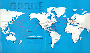 American Route Map by Route Map 1982 Pan American World Airways Timetables