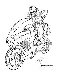 cool motorcycle power rangers jungle fury coloring pages