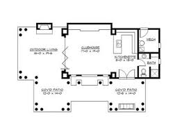 house plans with pools pool house plans pool cabana covered patio and clubhouse 035p