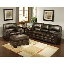 charleston leather sofa abbyson montecito brown italian leather chair and ottoman sofa set