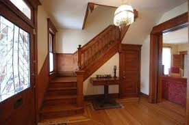 craftsman staircase with hardwood floors maple flooring in