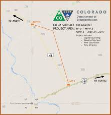 County Map Of Colorado Construction Planned This Spring On Colorado Highway 41