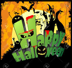 happy halloween vector 3d type of the text happy halloween royalty free cliparts vectors