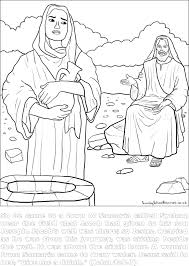 preschool coloring pages woman at the well sunday school jesus bible coloring pages
