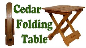 how to make a folding table diy woodworking project youtube