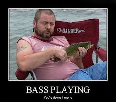 Bass Player Meme - nick offerman slapping the bass rock humor