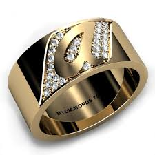 mens golden rings images Torino yellow gold gents diamond ring add your initial jpg