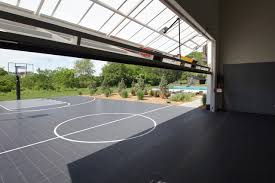 Building A Backyard Basketball Court Personal Resort Transitional Home Gym Chicago By Robert J