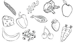 Healthy Foods Coloring Pages Healthy Vegetables And Fruit Coloring Food Color Pages