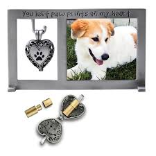 dog memorial dog memorial frame with ashes pendant