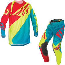 fly motocross jersey fly racing 2017 evolution mx motocross jersey u0026 pants teal hi viz