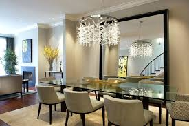 dining room glass table mirror above dining table dining room contemporary with recessed