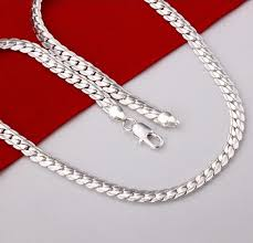 necklace silver mens images Modyle 2018 new fashion necklace silver color men 39 s jewelry jpg
