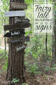 how to make your very own fairy tale reclaimed wood signs the