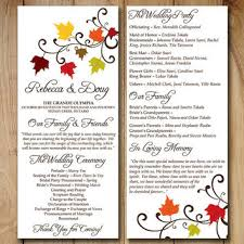 fall wedding programs best wedding ceremony program templates products on wanelo