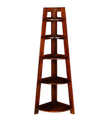 buy fabindia brown mango 5 shelf folding corner rack online