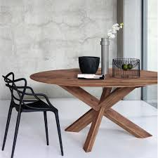 circle walnut dining table adventures in furniture