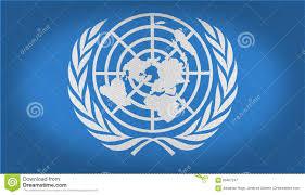 Blue White And Black Flag Un Flag Stock Illustration Image Of Logo Fabric Blue 85457247