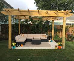make a back yard pergola 6 steps with pictures
