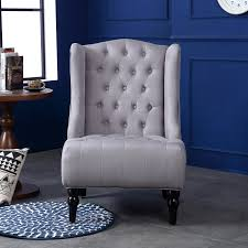 Nailhead Accent Chair Wingback Accent Chair High Back Living Room Tufted Nailhead