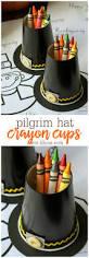 thanksgiving cup pilgrim hat crayon cups
