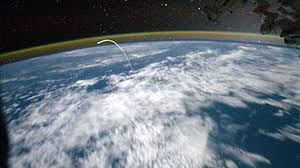 how fast does the space station travel images View from above first space view of shuttle reentry pics jpg