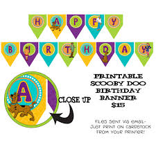 printable diy scooby doo inspired theme birthday banner
