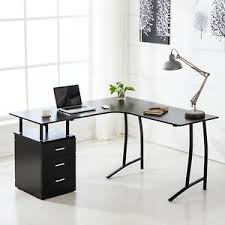 Corner Pc Desk Black L Shape Corner Pc Computer Desk Home Office Pc Table