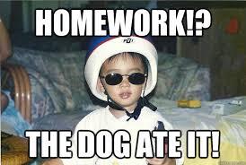 Asian Dog Meme - homework the dog ate it asian baby quickmeme