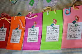 little mermaid invitations goody bags party favors and banner