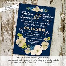 lds wedding invitations bridal shower navy lds mormon wedding katiedid designs