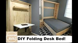 Diy Folding Bed Diy 20 Folding Desk For Murphy Bed