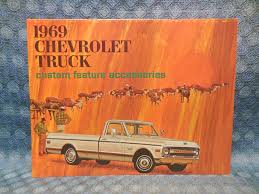 1969 chevrolet truck accessories original sales brochure pickup