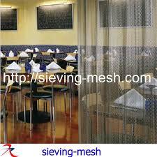 gold color metal mesh curtain fireplace decorative curtain