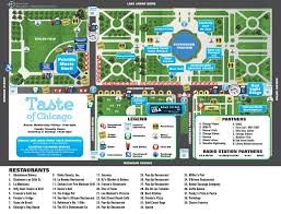 taste of chicago map taste of chicago schedule for 2016
