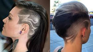 sidecut hairstyle women extreme side cut haircut women side shave haircut for women