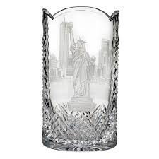 Vintage Waterford Crystal Vases Statue Of Liberty Engraved 12in Vase House Of Waterford Crystal Us