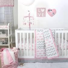 Green Elephant Crib Bedding Photos Babyirl Elephant Nursery Bedding Pink Andrey Chevron