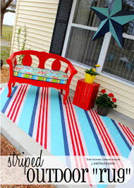 Diy Outdoor Rug Striped Outdoor Rug The Homes I Made