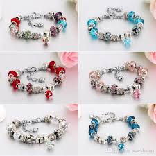 snake chain bracelet charms images Women gifts royal crown beaded bracelet handmade diy bracelet jpg