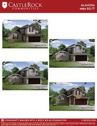 castle rock floor plans alamosa silver home plan by castlerock communities in talise de