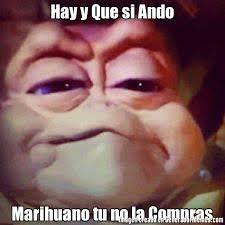 Memes De Marihuanos - hay y que si ando marihuano tu no la compras meme de nene