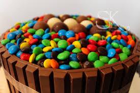 kit kat chocolate cake with m u0026ms u0026 lindt lindor truffles