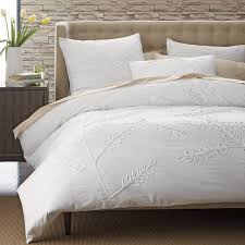 The Duvet And Pillow Company Embroidered Leaf Duvet Cover The Company Store