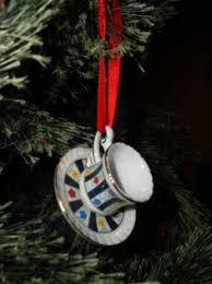 belleek cup saucer hanging ornament ornament