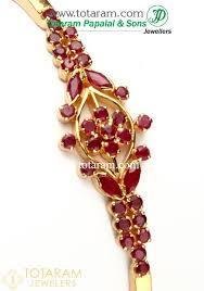 gold bangle bracelet design images Ruby bracelet in 22k gold bangle bracelet 235 gbr737 in 11 900 jpg
