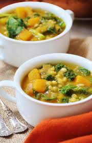 thanksgiving butternut squash soup acorn squash kale and barley soup vegan veganosity